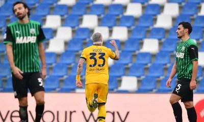 Esultanza gol Kucka Sassuolo-Parma