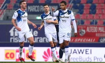 Esultanza gol Muriel Gosens Atalanta