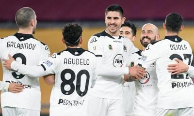 Esultanza gol giocatori Spezia