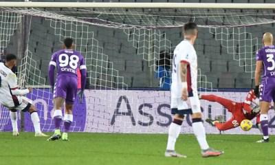 Rigore Joao Pedro Dragowski Fiorentina-Cagliari