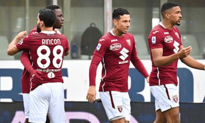 Rincon Izzo Singo esultanza Torino