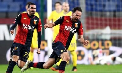Esultanza gol Badelj Zappacosta Genoa