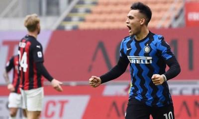 Esultanza gol Lautaro Martinez Milan-Inter