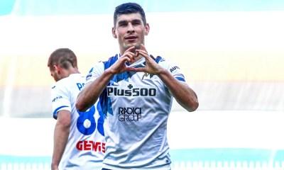 Esultanza gol Ruslan Malinovskyi Atalanta
