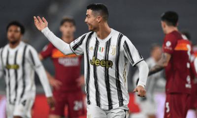 esultanza gol Cristiano Ronaldo Juventus-Roma