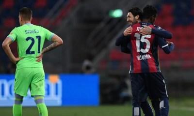 esultanza gol Ibrahima Mbaye Bologna-Lazio