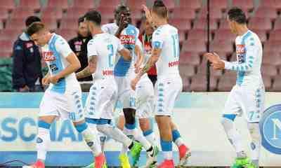 Esultanza Napoli record club