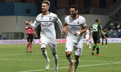 esultanza-gol-Samuel-Castillejo-Calhanoglu-Milan