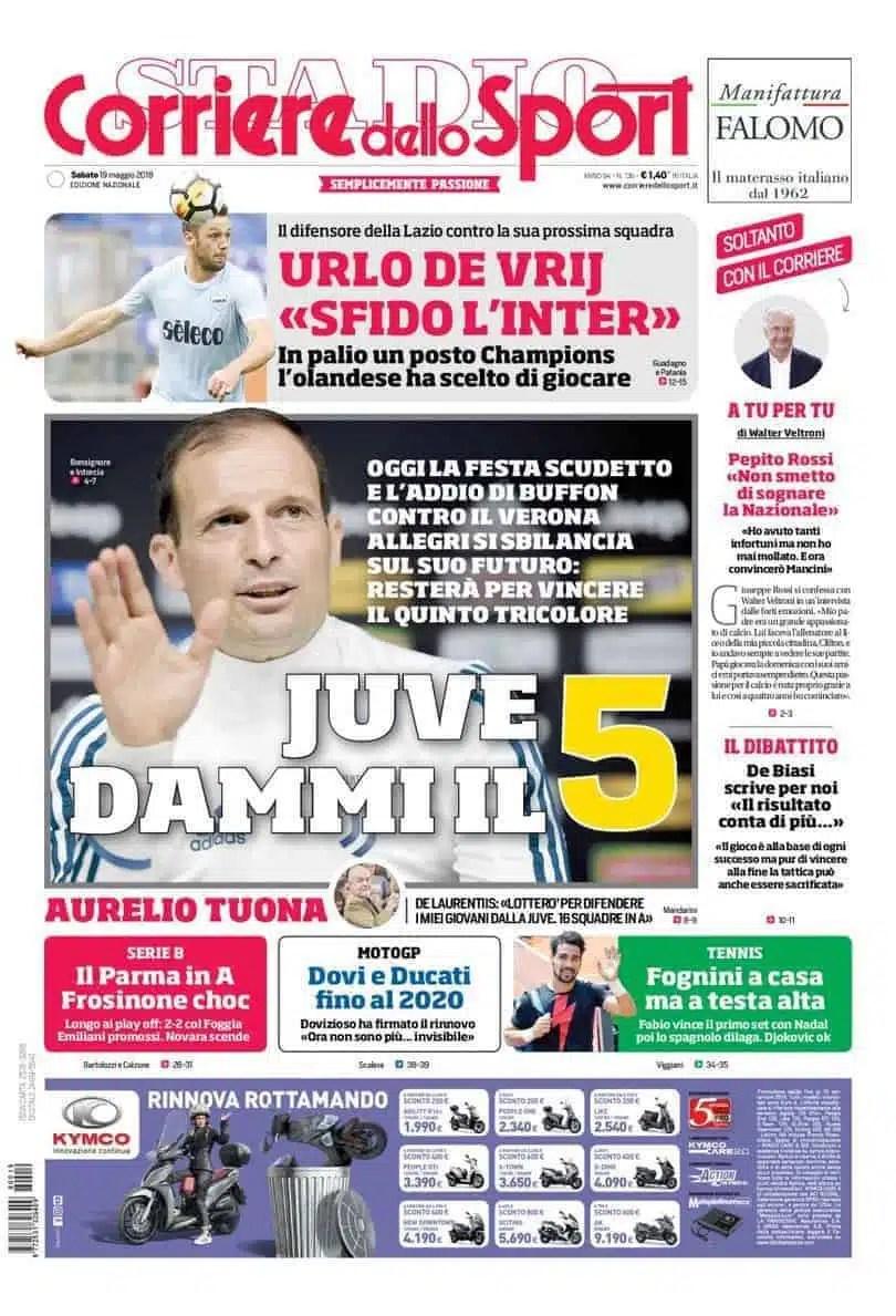 primapagina-corriere-sport-sabato-19-maggio