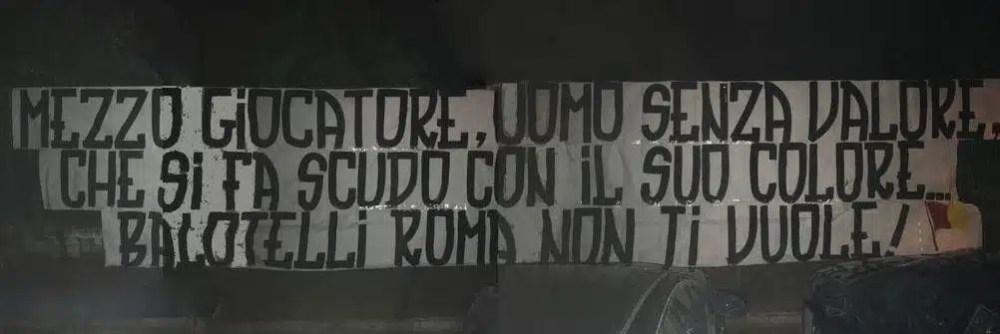 tifosi roma contro balotelli