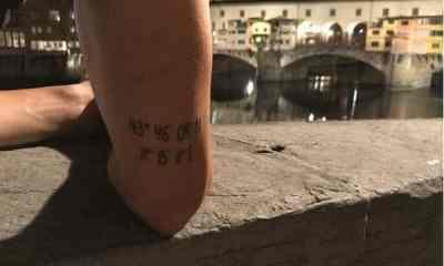 borja valero tatuaggio fiorentina