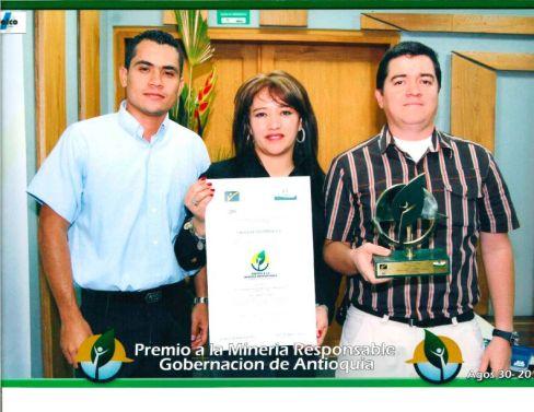 Cales de Colombia, certificado de secretaría de minas