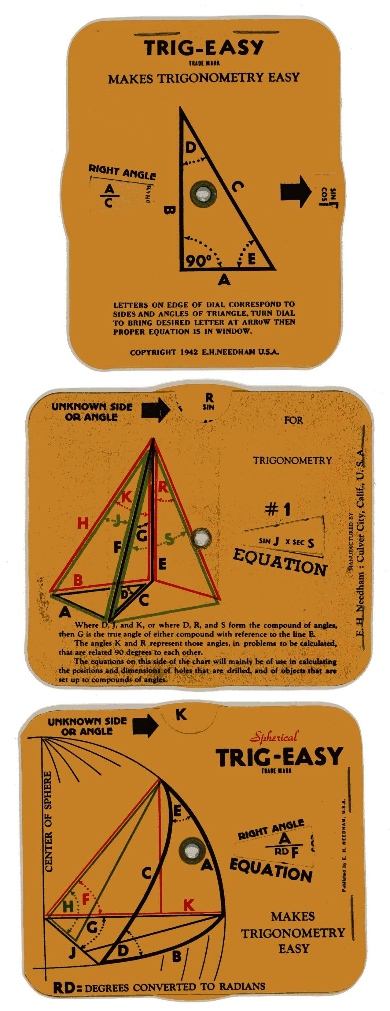 World War 2 Defence Industry Trig Easy Trigonometry Charts
