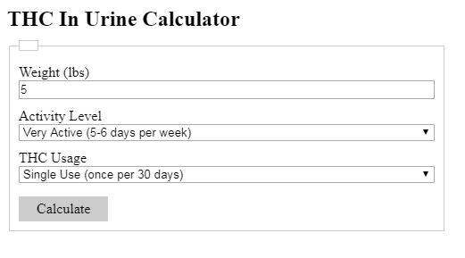 THC Calculator