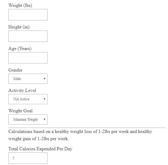 Calories Calculator