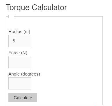 torque calculator