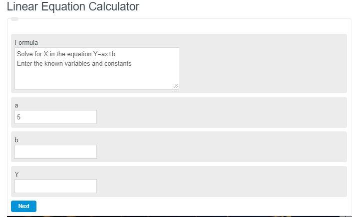 linear equation calculator