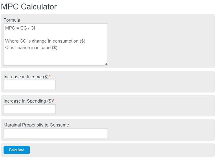 mpc calculator