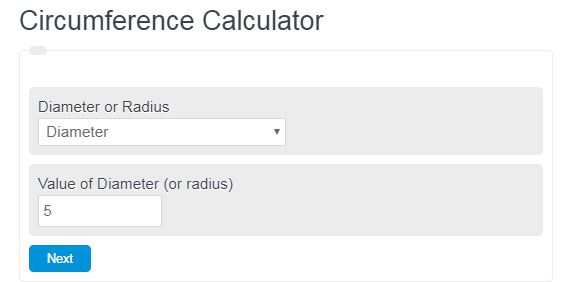 circumference calculator