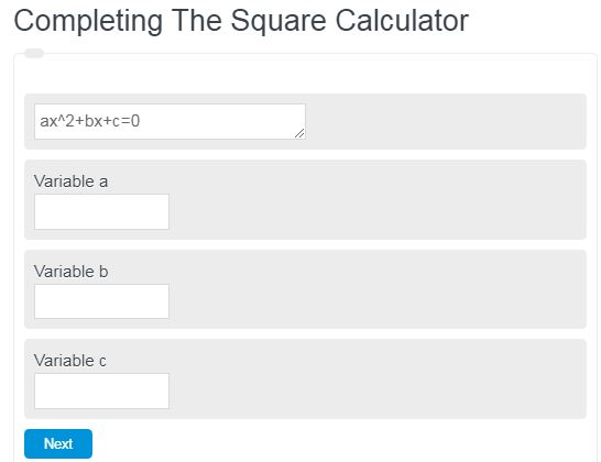 completing the square calculator