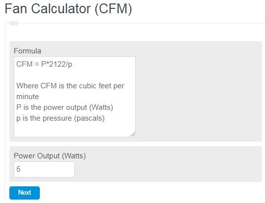 fan calculator