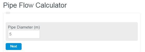 pipe flow calculator