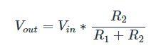voltage divider formula