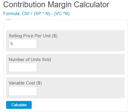 contribution margin calculator