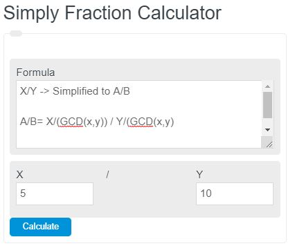 simplify fraction calculator