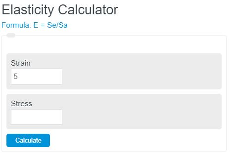 Elasticity Calculator Physics Calculator Academy