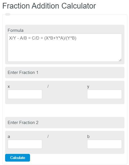 fraction addition calculator