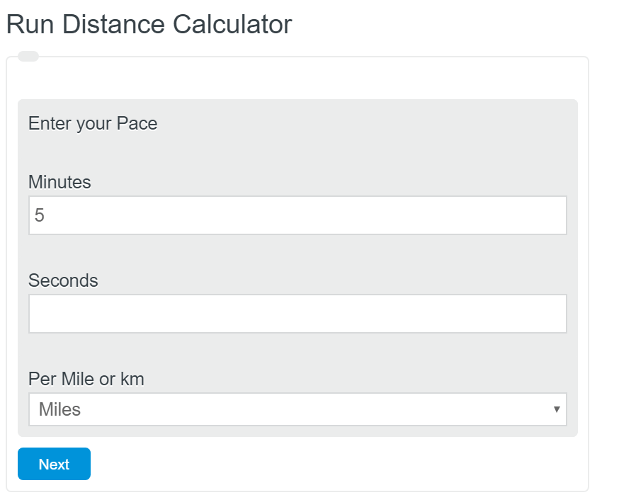 run distance calculator