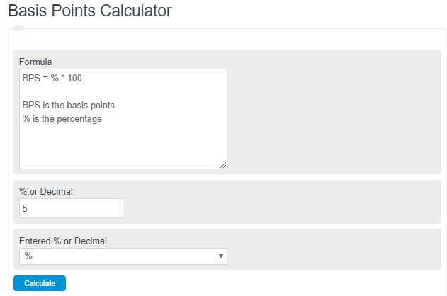 bps calculator
