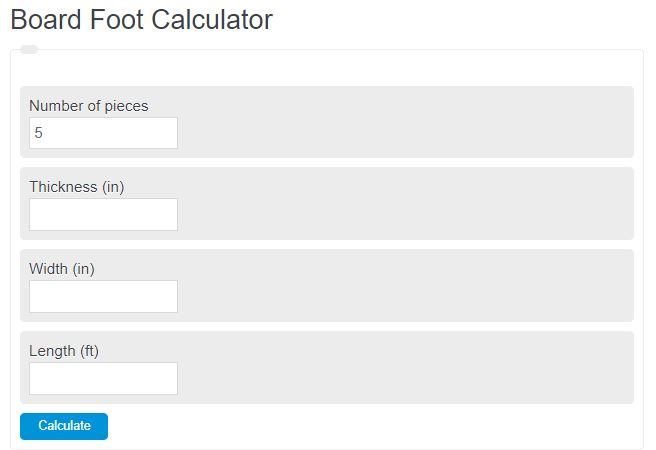 board foot calculator