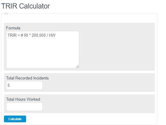 trir calculator