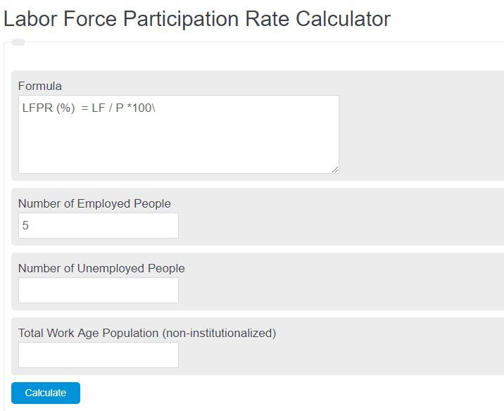 Labor Force Participation Rate Calculator