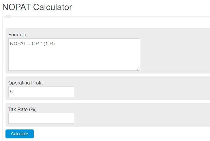 nopat calculator