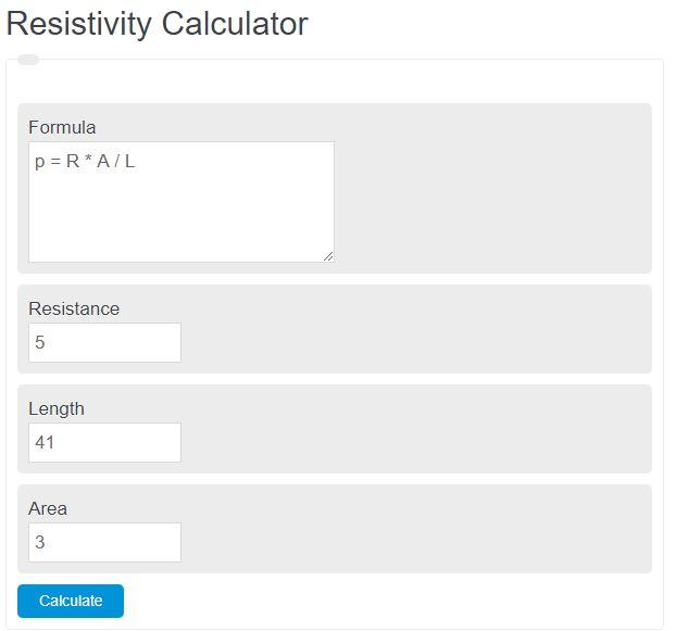 resistivity calculator