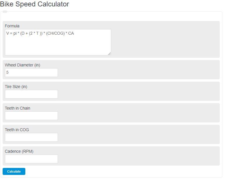 bike speed calculator