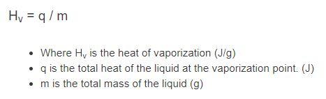 heat of vaporization formula