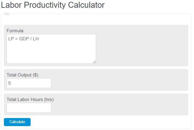 labor productivity calculator