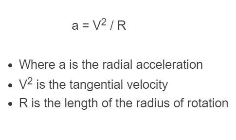 radial acceleration formula