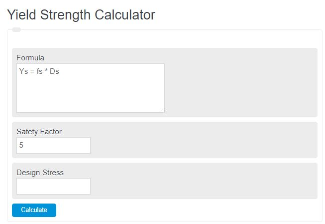 yield strength calculator