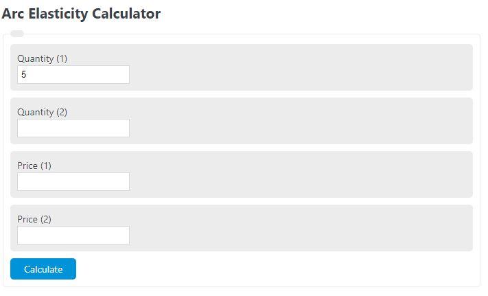 arc elasticity calculator