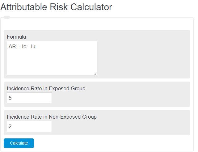 attributable risk calculator