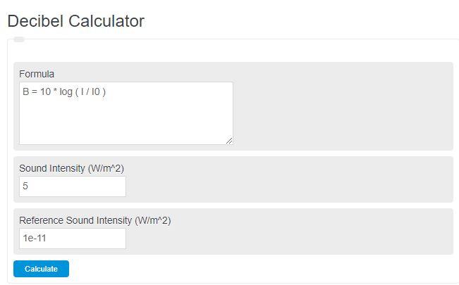decibel calculator