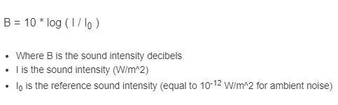 decibel formula