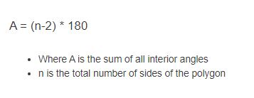 interior angle formula