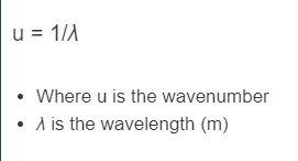 wavenumber formula