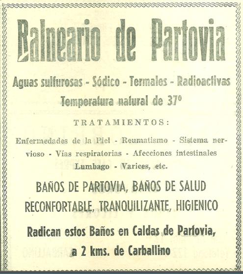 Balneario Caldas de Partovia. Carballiño. Ourense